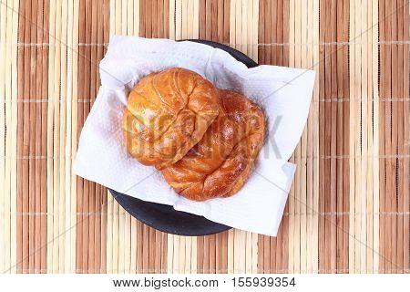 Home Made ,crispy Fresh Margarine Croissant.