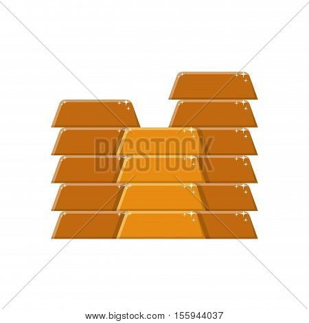 silhouette with many gold bullion vector illustration