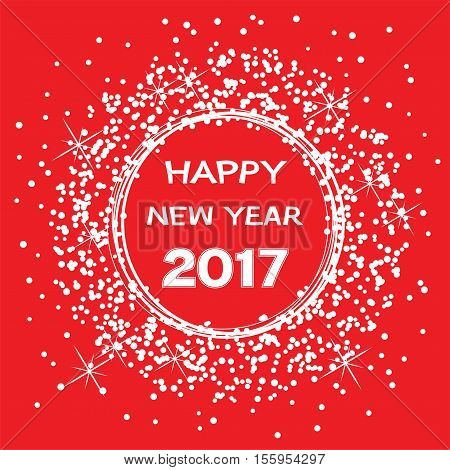 vector background for happy new year 2017 celebration card