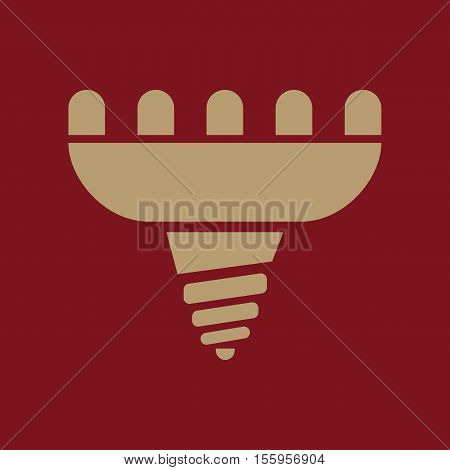 The led lamp icon. Lamp and bulb, lightbulb, CFL, luminodiode symbol.UI. Web. Logo Sign Flat design App Stock vector