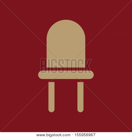 The luminodiode icon. Lamp and bulb, lightbulb, CFL, led lamp symbol.UI. Web. Logo Sign Flat design App Stock vector