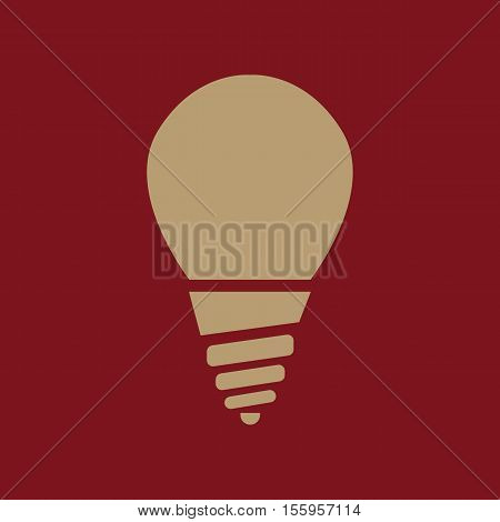 The incandescent lamp icon. Lamp and bulb, lightbulb, filament lamp, glow-lamp, light bulb symbol.UI. Web. Logo. Sign Flat design App Stock vector