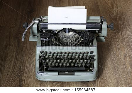 Instruments employee news agency the mid-twentieth century, retro camera and typewriter