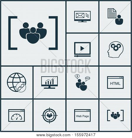 Set Of Marketing Icons On Questionnaire, Loading Speed And Coding Topics. Editable Vector Illustrati