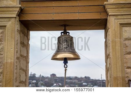 the church bell weighing on a belltower