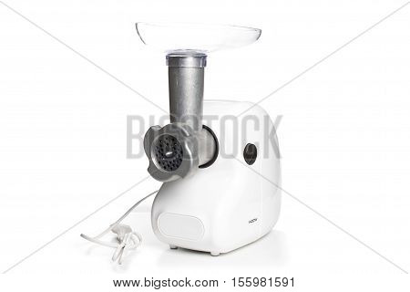 Meat chopper. Isolated on white background. kitchen
