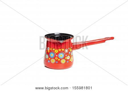 A Turkish Coffee Pot Isolated On White Background,metal Pots For Coffee