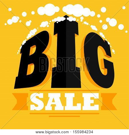big sale Vector illustration in flat cartoon style isolated from the background EPS 10