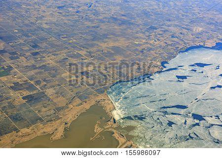 Beautiful Ice And Lands Of Winnipeg