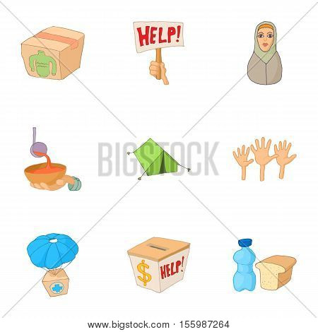 People fugitives icons set. Cartoon illustration of 9 people fugitives vector icons for web