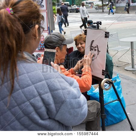 Street Painting In Times Square