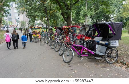 Central Park Pedicabs (rickshaw)