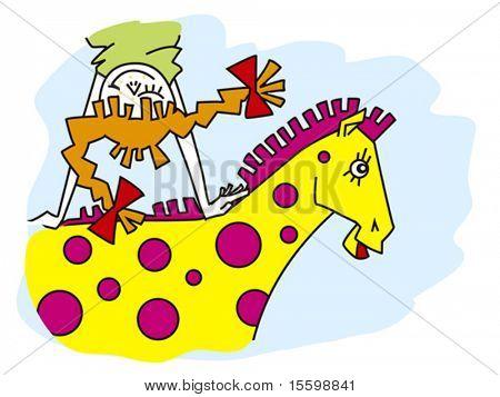 girl is going on horseback in dream
