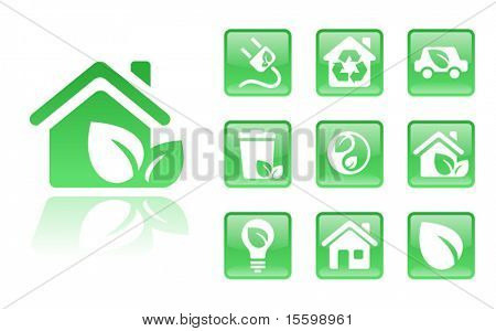 green eco icons; see also Images ID: 18405196, 18405190, 18405193