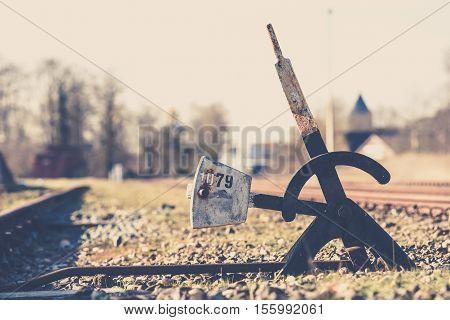 Railway shunt. Railway switch. Railroad shunt. Railroad switch.