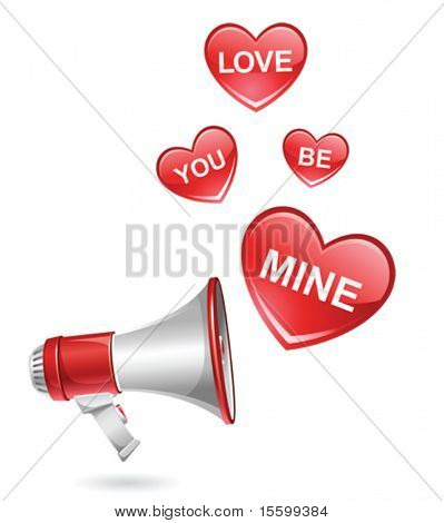 vector illustration of declaration of love