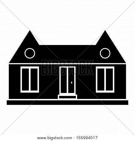 Suburban american house icon. Simple illustration of house vector icon for web design