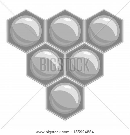 Honeycomb icon. Gray monochrome illustration of honeycomb vector icon for web design
