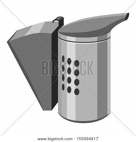 Beekeeping smoker icon. Gray monochrome illustration of beekeeping smoker vector icon for web design