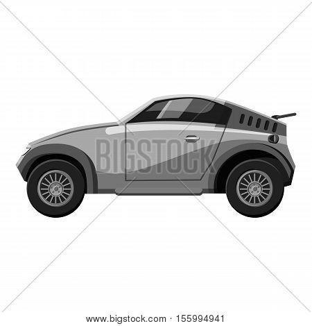 Sport car icon. Gray monochrome illustration of car vector icon for web design