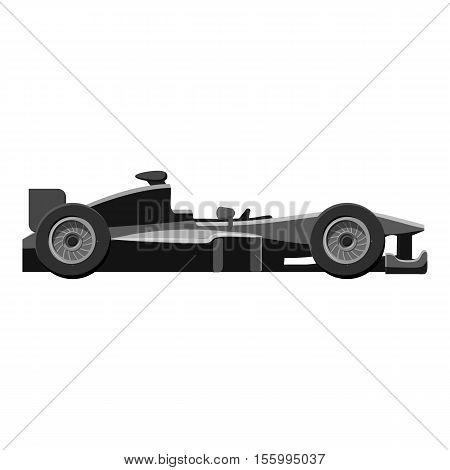 Race sport car icon. Gray monochrome illustration of car vector icon for web design