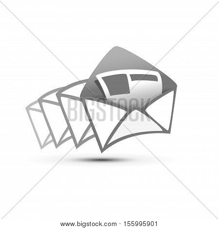 Illustration vector letters without the background message icon EPS