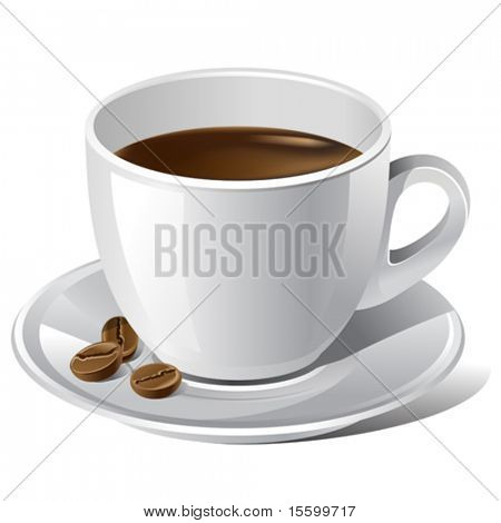 vector realistic coffee cup. There are VARIETY of coffee things in my portfolio ;) Please, take a look !