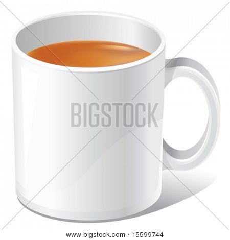 vector white tea mug. There are VARIETY of tea things in my portfolio ;) Please, take a look !