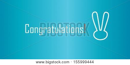 Congratulations inscription, text - Winner background. Vector Celebration, congratulations banner, congratulations card, congratulations text, congrats, business, winner, thank you, happy birthday