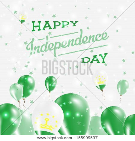 Tajikistan Independence Day Patriotic Design. Balloons In National Colors Of The Country. Happy Inde