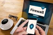 Firewall Antivirus Alert Protection Security and Cyber Security Protection Firewall poster