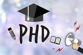 PhD Doctor of Philosophy Degree Education Graduation poster