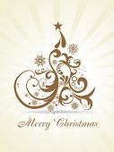 beautiful vector christmas artistic background poster