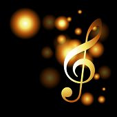 vector music glowing golden background poster