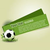 vector football abstract design illustration poster