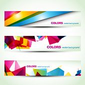 abstract colorful banner set designs. Eps10 vector poster