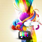 artistic vector tv design illustration poster