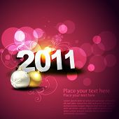 beautiful vector new year and chritsmas illustration poster