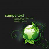 green vector earth design illustration poster