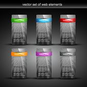 glossy web element display with space for your text poster