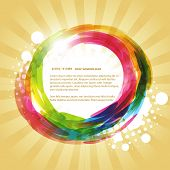 abstract colorful design with space for your text poster
