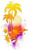 Abstract summer illustration poster