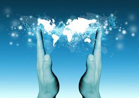 Concepto de negocios e internet.