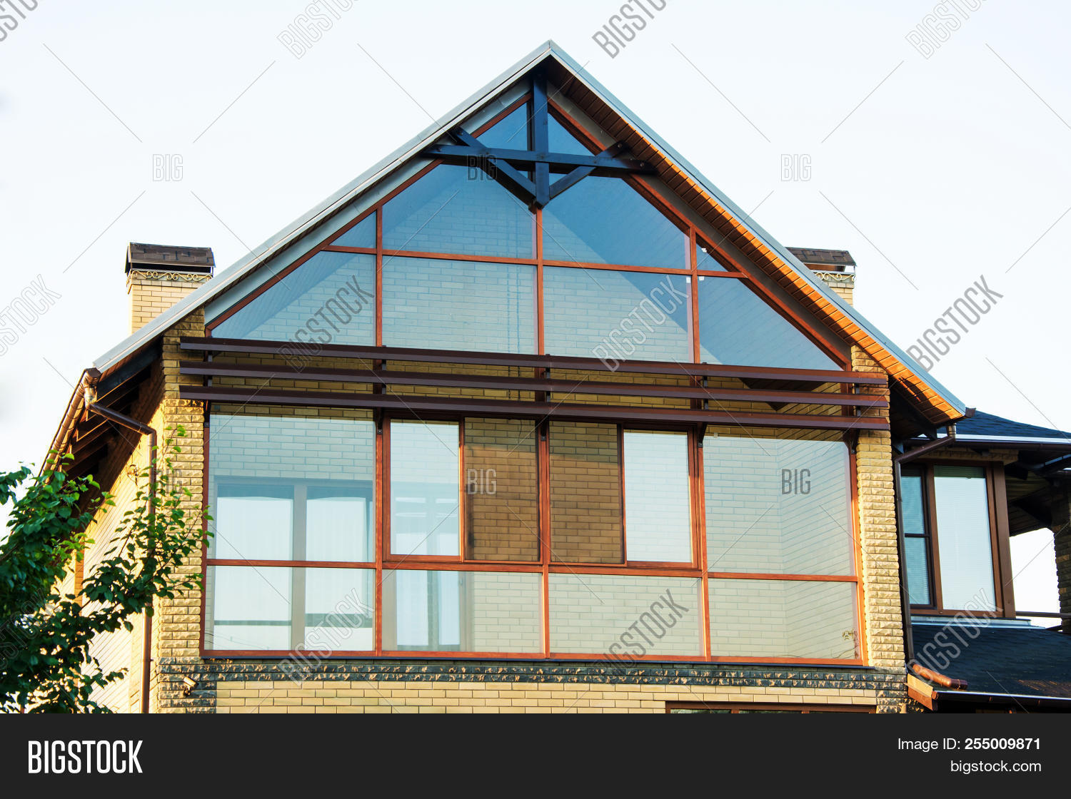 Modern House With Panoramic Windows Glazing Of Houses Large The