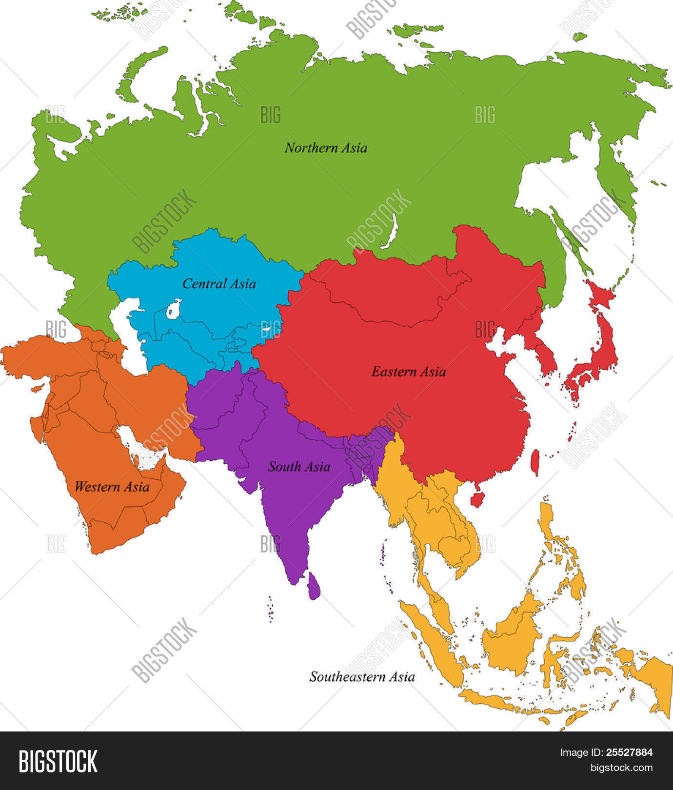 Map Of Asia With 5 Regions.Map Of Asia With 5 Regions Twitterleesclub