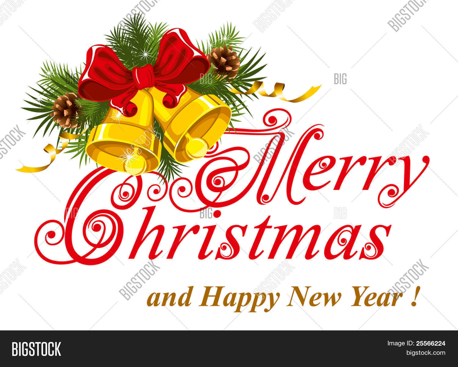 Christmas greetings card merry vector photo bigstock christmas greetings card merry christmas lettering kristyandbryce Choice Image