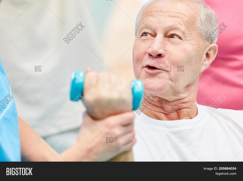 Senior Man Doing Rehab Image & Photo (Free Trial)   Bigstock