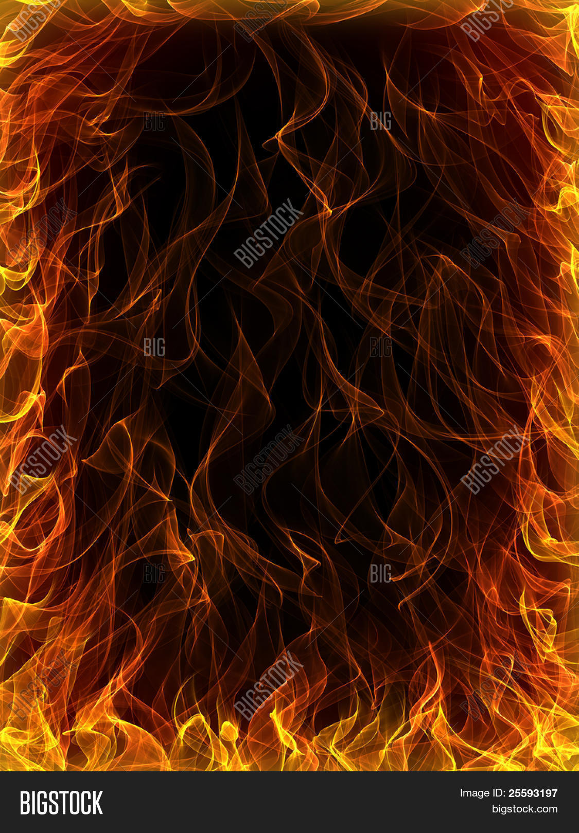 Fire Flames Background Image Photo Free Trial Bigstock