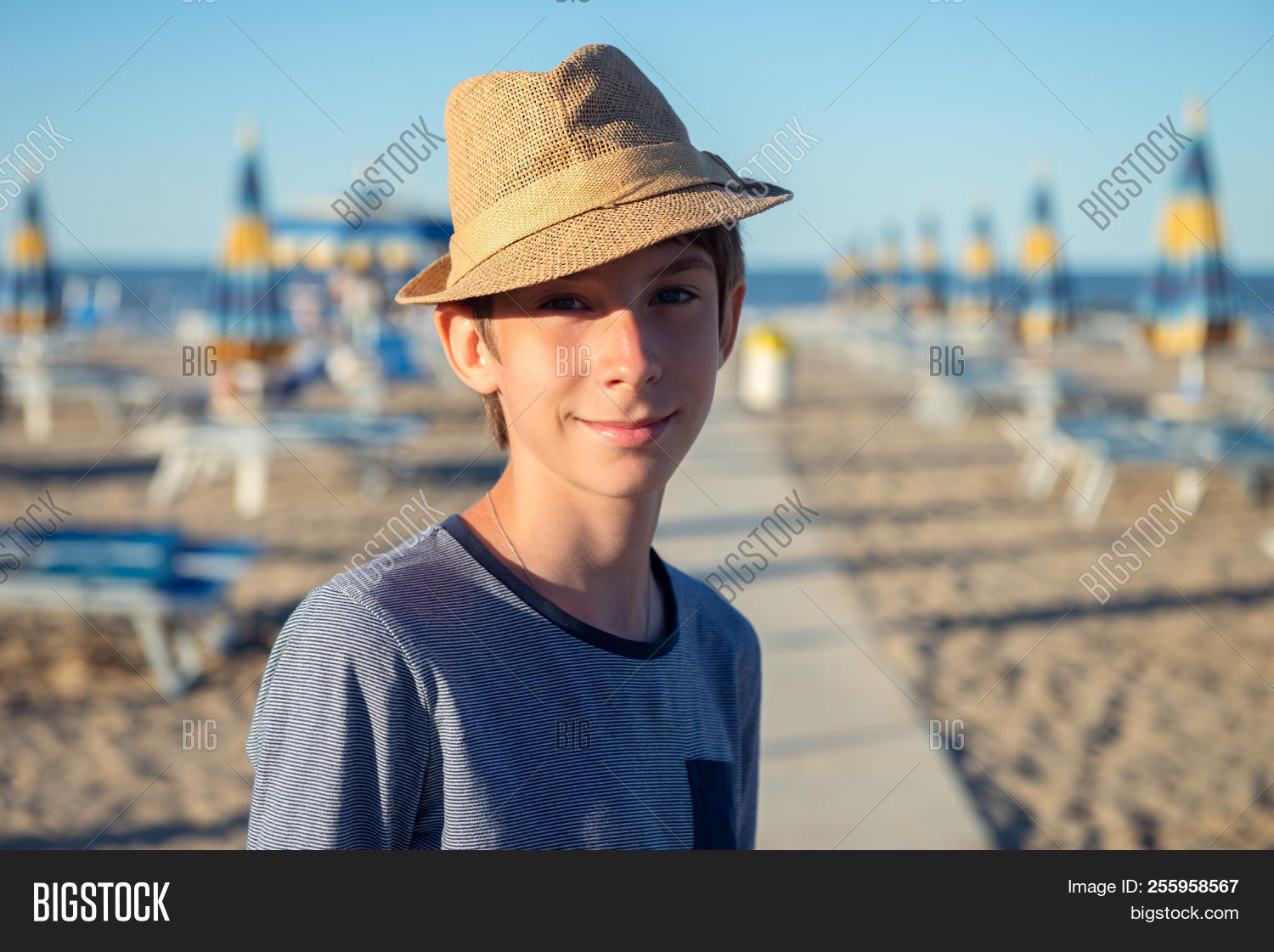 Young Boy Hat Posing Image Photo Free Trial Bigstock