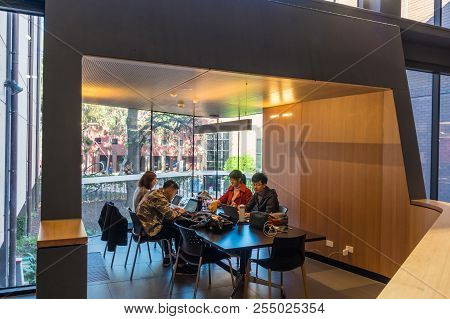 Melbourne, Australia - August 5, 2018: The Sir Louis Matheson Library At The Monash University Clayt